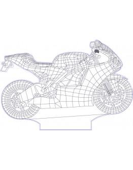 Personalisiertes LED Nachtlicht 3D Motorrad