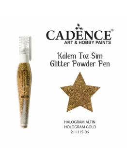 Glitzerpulver Stift Hologramm Gold