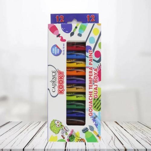 Cadence Kooky Gouache Farbset für Kinder | 12 Farben & 15 ML