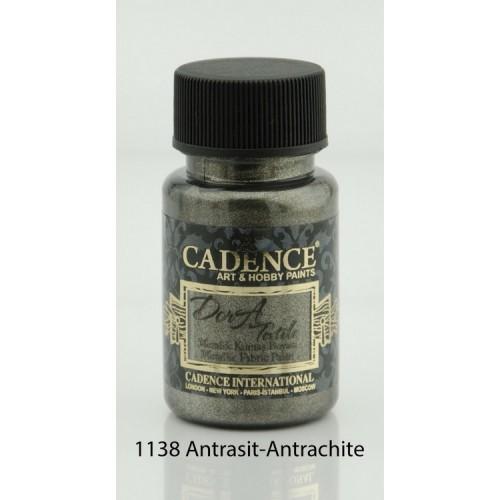 Stofffarben (Metallisch) Acrylfarbe Anthrazit 50 ml