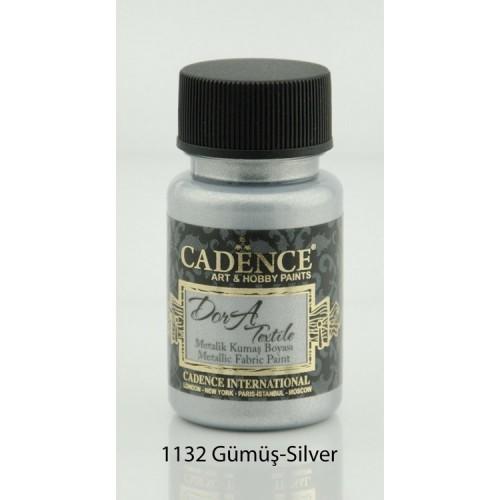 Stofffarben (Metallisch) Acrylfarbe Braun 100 ml  Silber 50 ml