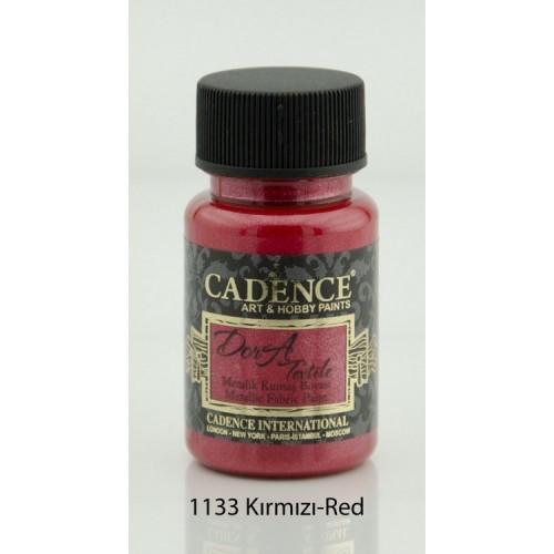 Stofffarben (Metallisch) Acrylfarbe Rot 50 ml