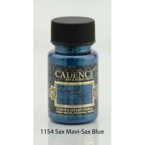 Stofffarben (Metallisch) Acrylfarbe Sax-Blau 50 ml