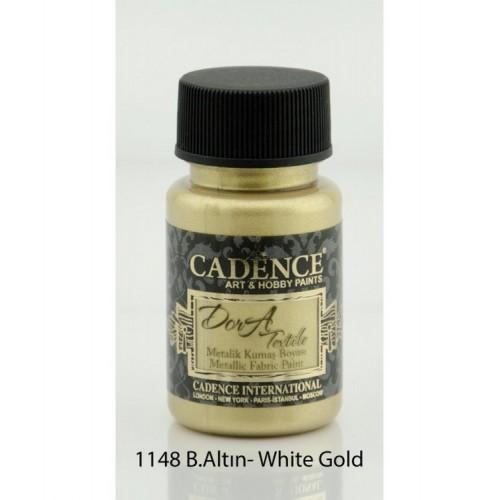 Stofffarben (Metallisch) Acrylfarbe Weissgold 50 ml