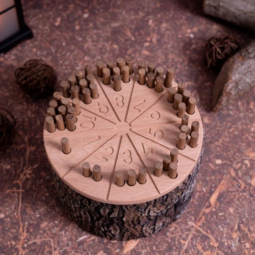 Holz Zahlenstäbchen 3 aus Holz   Montessori Lernspielzeug für Kinder