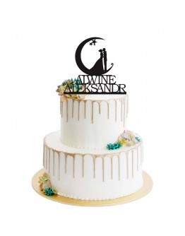 "personalisierte Cake Topper Thema ""Over The Moon"""