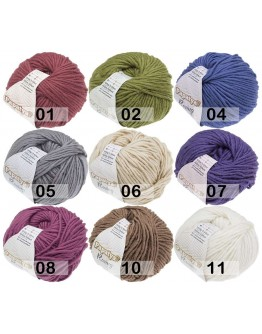 Papatya Roving   80% Acryl 20% Wolle   100g/100mt   7 Farben