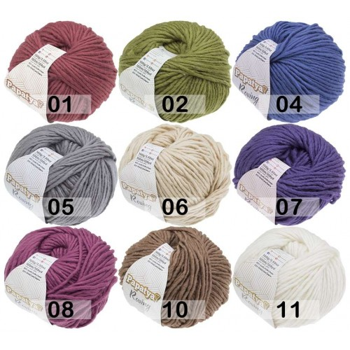 Papatya Roving | 80% Acryl 20% Wolle | 100g/100mt | 7 Farben