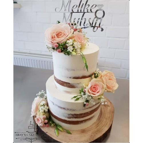 Cake Topper / Tortenstecker / Tortenfigur komplett personalisiert Schriftart Calligraphy