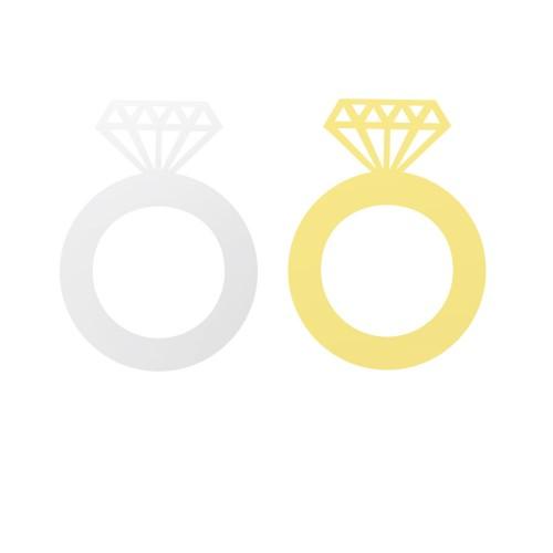 Plexi Spiegelglas Gastschenke Diamant Ring mit Datum (Gravur)